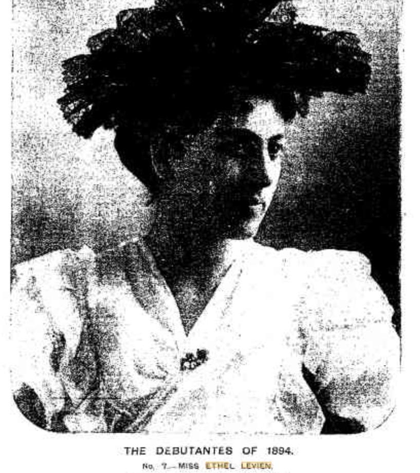 Ethel Levien debutante portrait