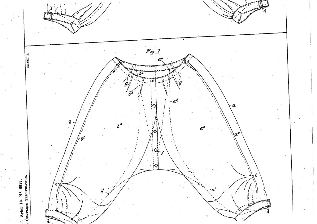 Diagram from Ethel Levien's 1900 UK patent application no. 6929